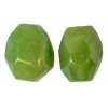 Semi-Precious 15x20mm Facetted Bead Butter Jade Coated Green